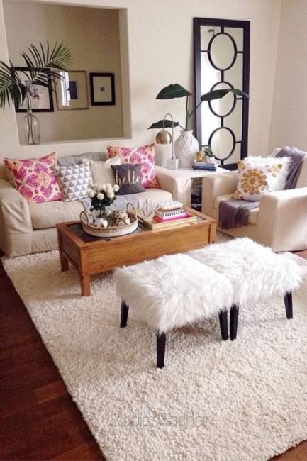 pink cozy apartment decorating on budget