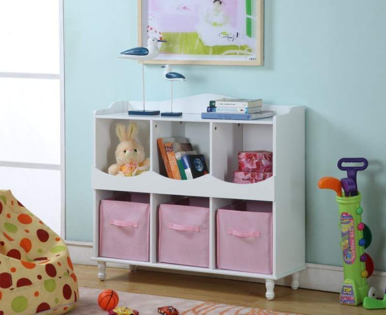 Pink Kids Room Storage Ideas