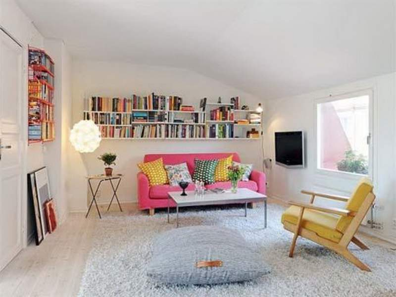 Pink Simple Apartment Decor