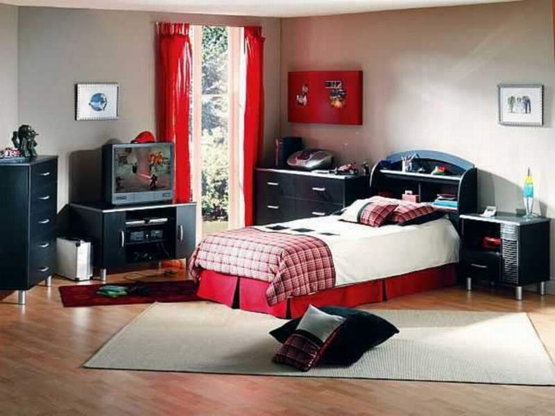 red black boys bedroom ideas