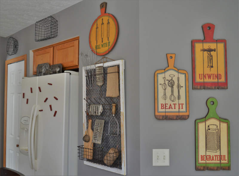 Retro Kitchen Wall Decor