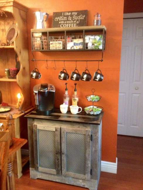 rustic coffee bar ideas