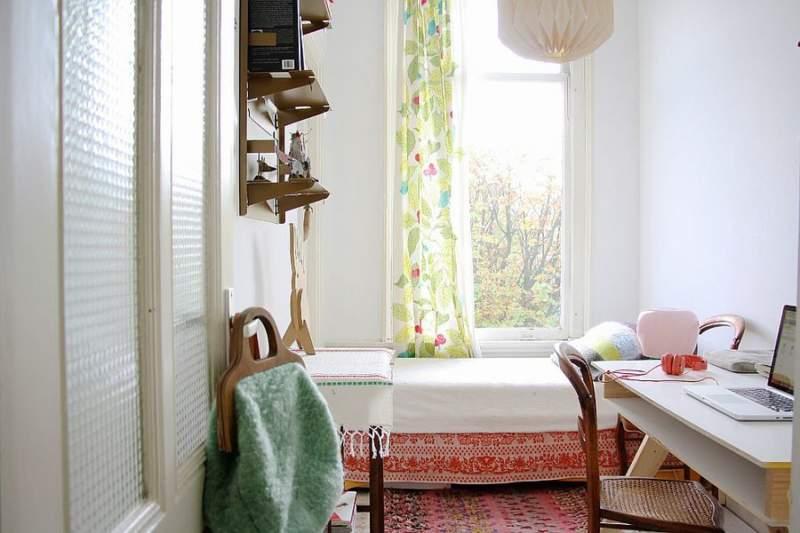 scandinavian bedroom office combos