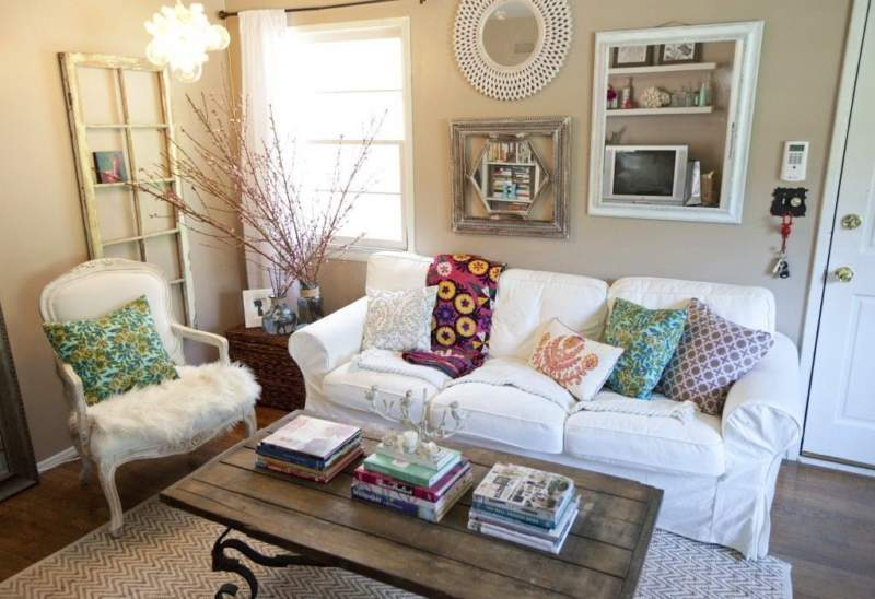 Shabby Chic Simple Apartment Decor