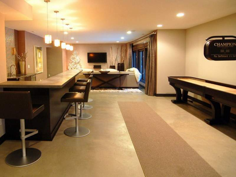Simple Artsy Unfinished Basement Ideas