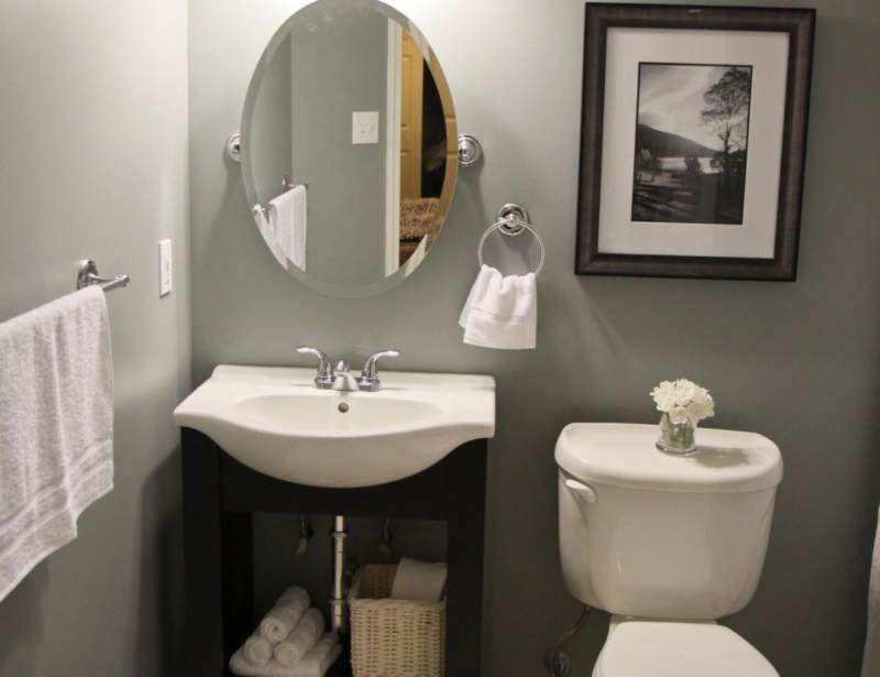 small cozy basement bathroom ideas