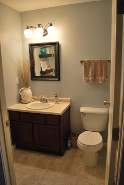 small cozy half bathroom ideas
