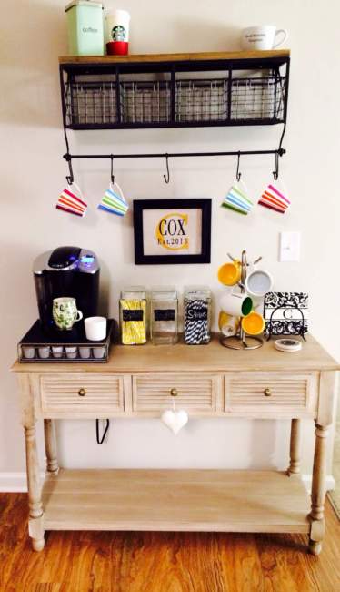 tiny coffee bar ideas