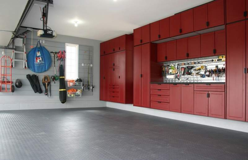 Transitional Garage Storage Ideas