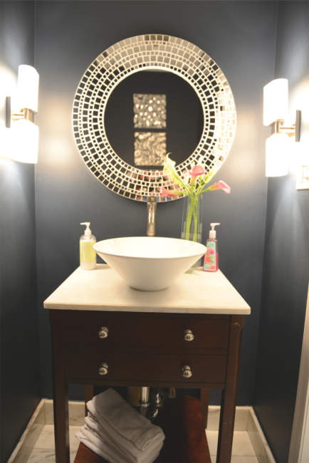 transitional half bathroom ideas