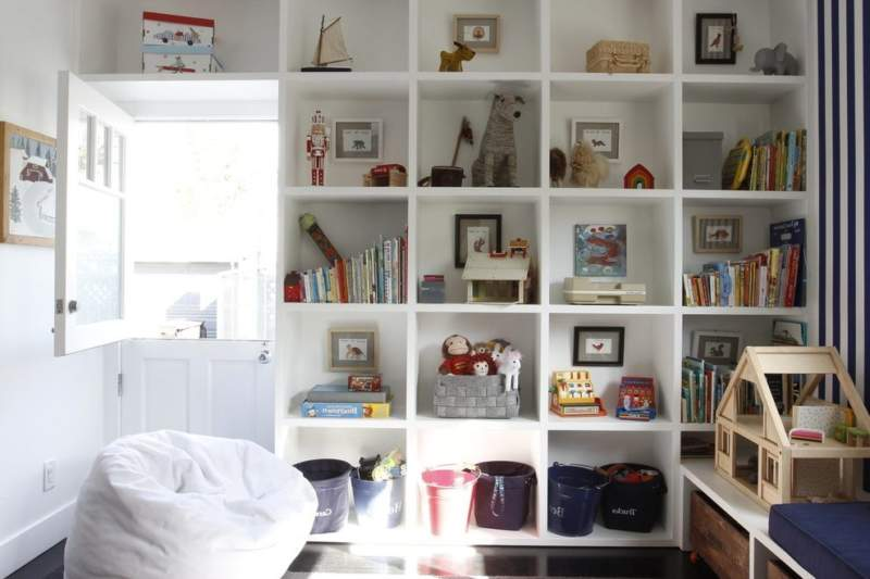 Transitional Kids Room Storage Ideas