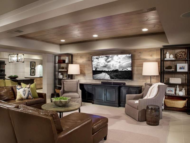 Transitional Unfinished Basement Ideas