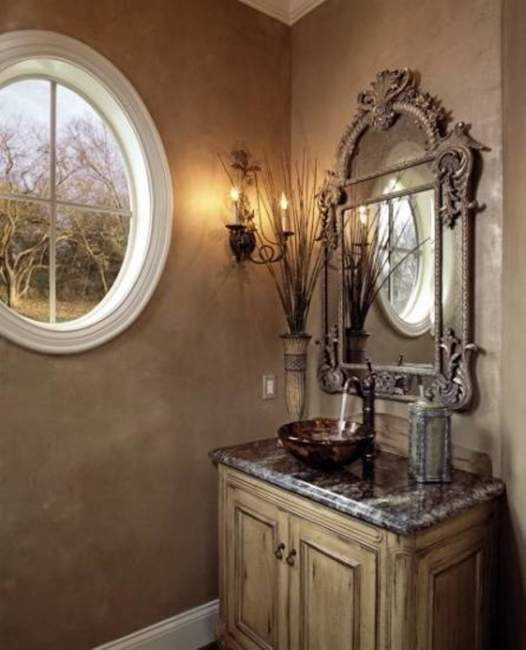 tuscan half bathroom ideas