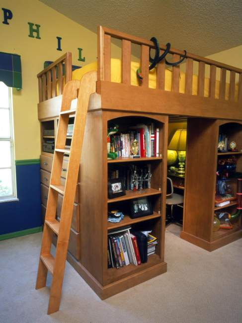 Tuscan Kids Room Storage Ideas