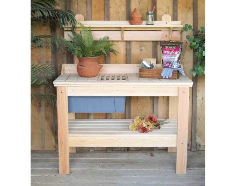 Tuscan Potting Bench Ideas
