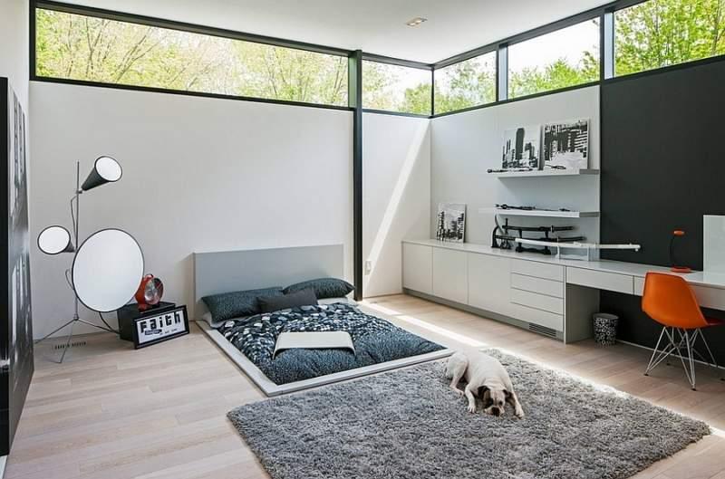 ultra modern bedroom office combos