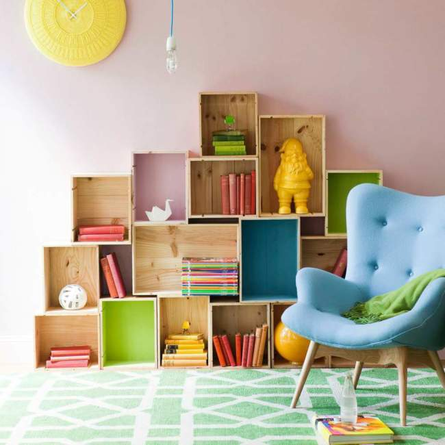 Vertical Box Kids Room Storage Ideas