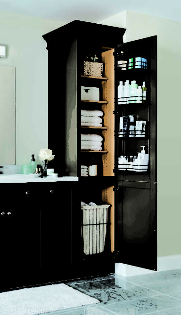 vertical cabinet built in bathroom storage ideas