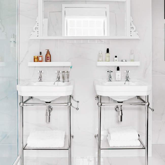 Victorian Savvy Bathroom Storage Ideas