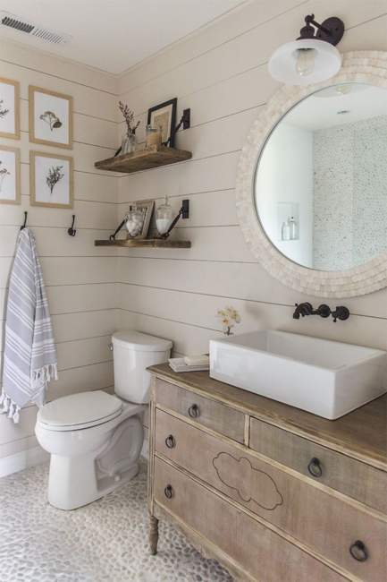 vintage farmhouse basement bathroom ideas