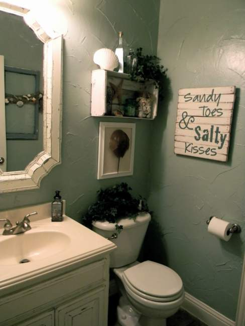 vintage half bathroom ideas