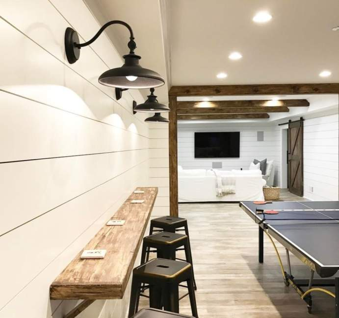 Vintage Wood Unfinished Basement Ideas