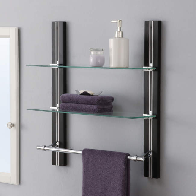 wall mounted built in bathroom storage ideas