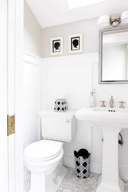 white colonial half bathroom ideas