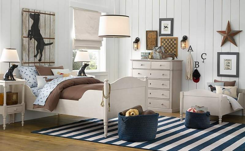 white nautical boys bedroom ideas