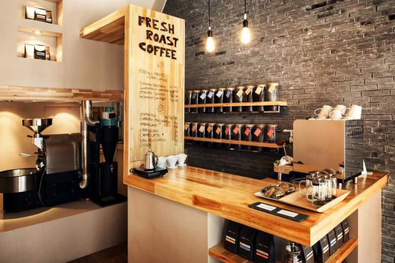 wood coffee bar ideas