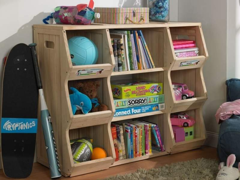 Wood Kids Room Storage Ideas