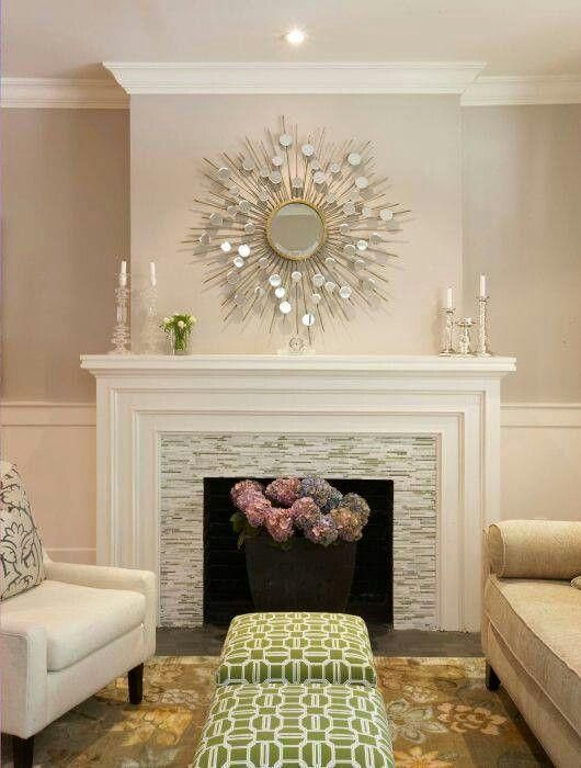 Abstract Pattern Fireplace Tile Ideas