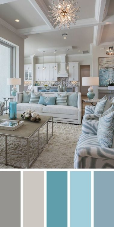 Beach Color Living Room Color Scheme Ideas