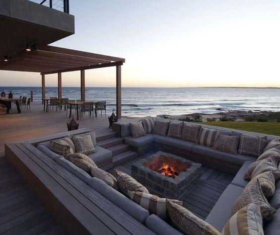 Beach Stone Patio Ideas
