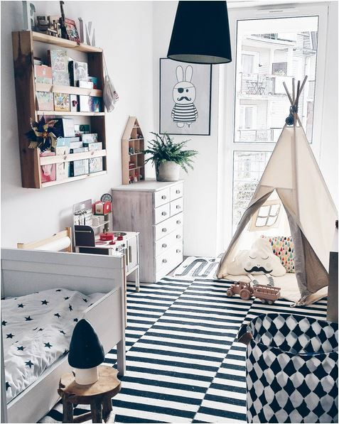 Black and White Kids Room Ideas