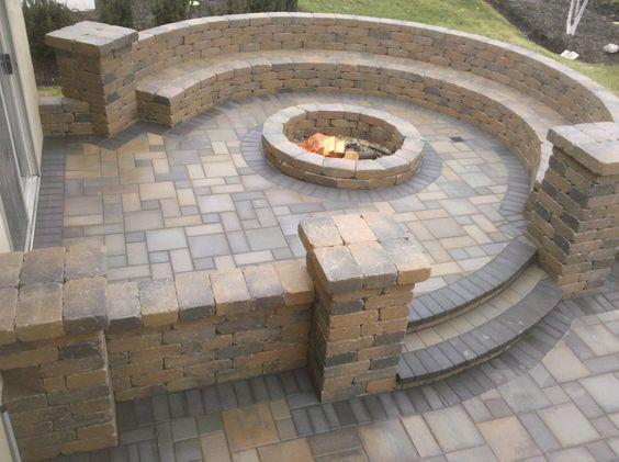 Brown Stone Patio Ideas