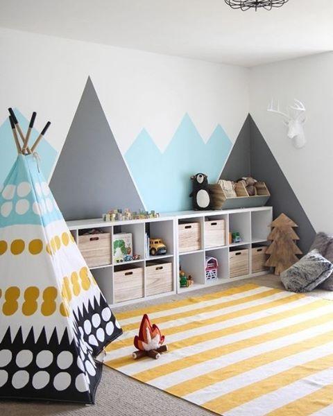 Calm Color Scheme Kids Room Ideas