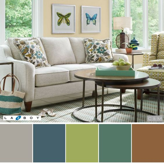 Calm Pastel Color Living Room Color Scheme Ideas