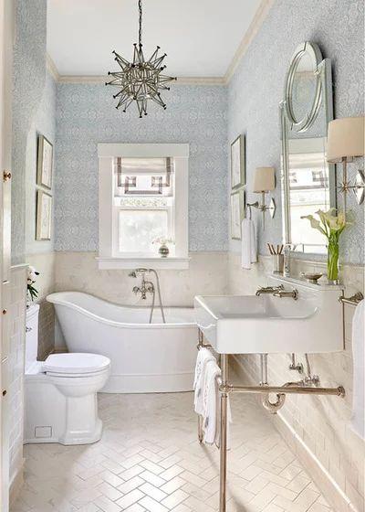 Chic Tiny House Bathroom