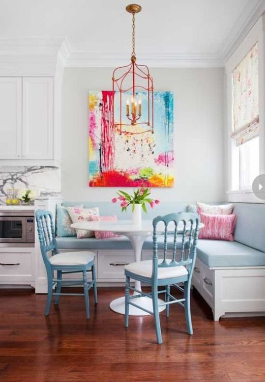 Colorful Corner Breakfast Nook Ideas