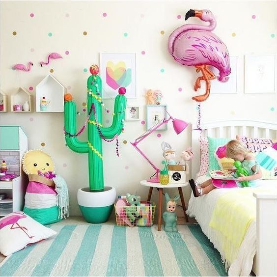 Colorful Girls Room Decor