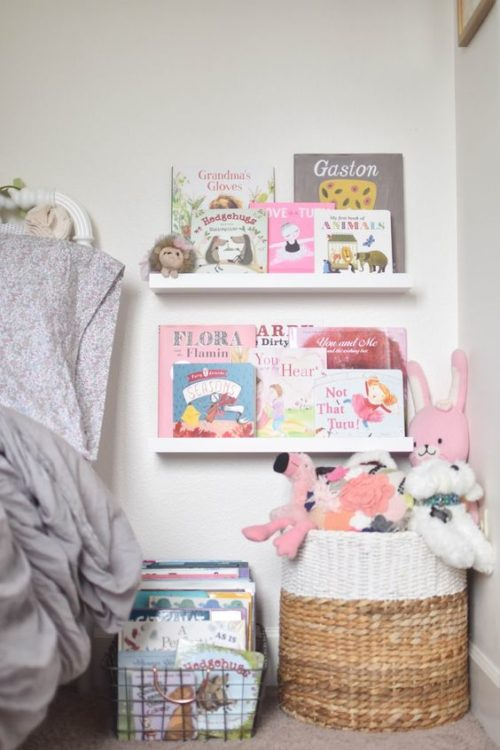 Corner Story Book Shelves Girls Room Decor