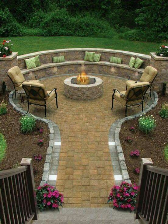 Country Stone Patio Ideas