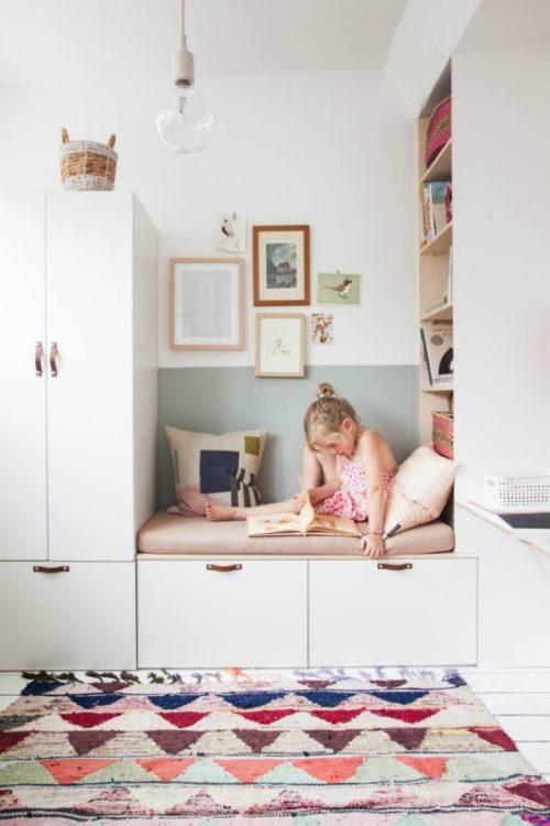 Cozy Reading Nook Girls Room Decor