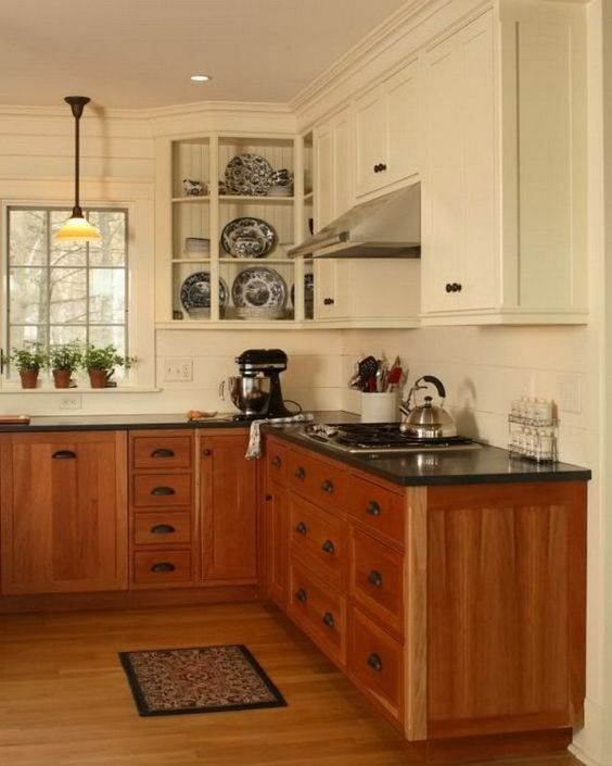 White Cabinets With Brown Glaze: 20+ Two Tone Kitchen Cabinets Ideas For Beautiful Kitchen