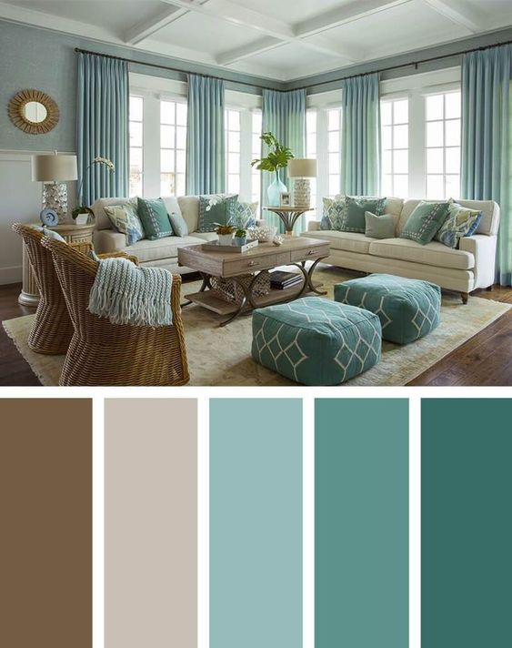 Dark Green Brown Living Room Color Scheme Ideas