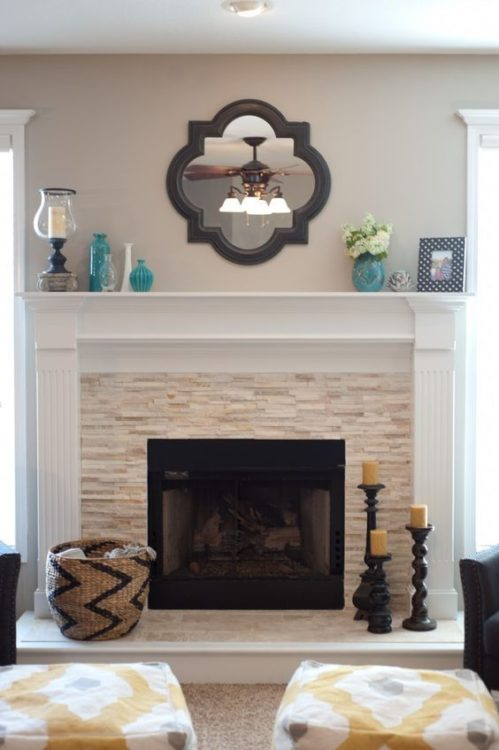 Eclectic Fireplace Tile Ideas
