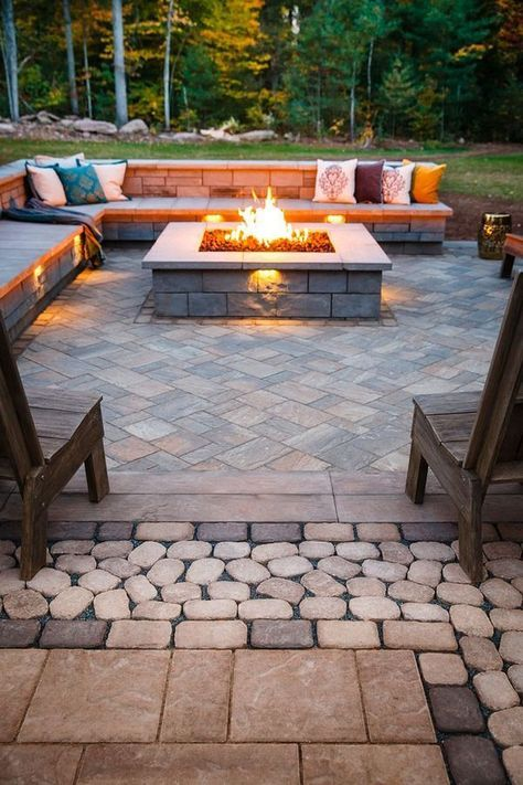 Eclectic Stone Patio Ideas
