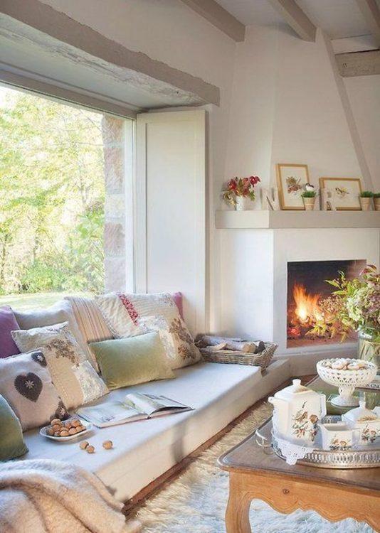 Elegant Corner Fireplace