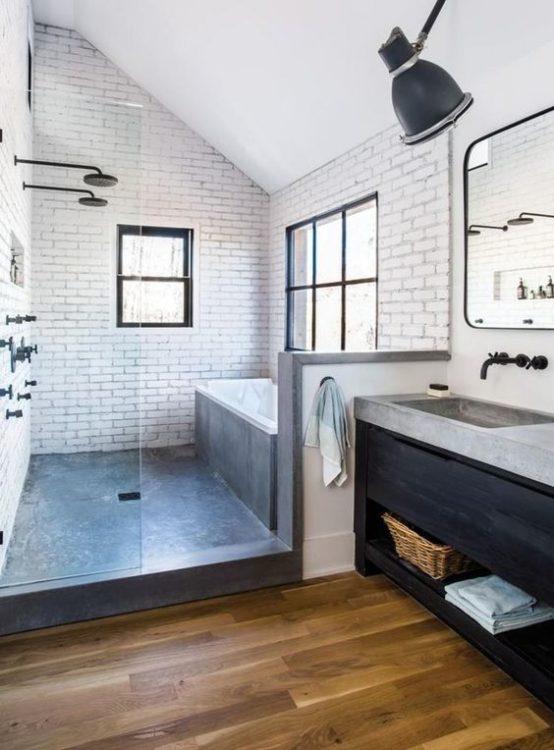 Farmhouse Tiny House Bathroom